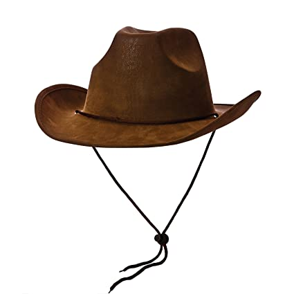 3b4c76918f0 Wicked Costumes Cowboy Hat - Super Deluxe Brown Suede Fancy dress  accessory  Amazon.co.uk  Toys   Games