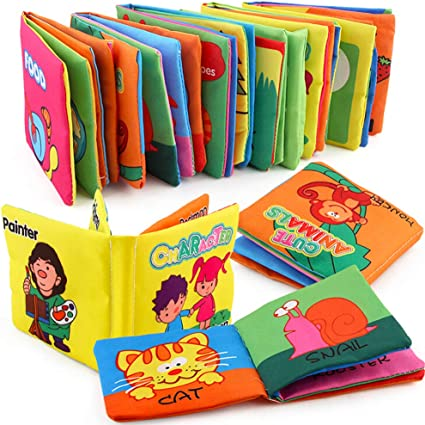 FunsLane Cloth Books for Babies Soft Non-toxic Fabric Baby First Book...