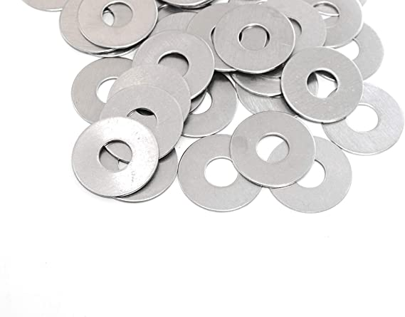 Nominal Thickness 5//16 x 5//8OD, Pack of 110 Plain Finish Beduan Stainless Steel Flat Washer