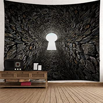 Amazon.de: Kreativ 3D Abstrakt Tunnel Dekoration Tapisserie ...