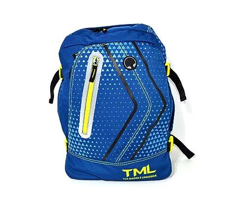 Mochila TML Organizzato Fantasia Azul Triángulos Escuela oferta New