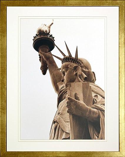 Amazon.com: Statue of Liberty. Lady Liberty, NYC. Framed Art Print ...
