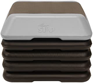 The Step High Step Aerobic Platform with High Step Grey Aerobic Platform and 4 Black Risers