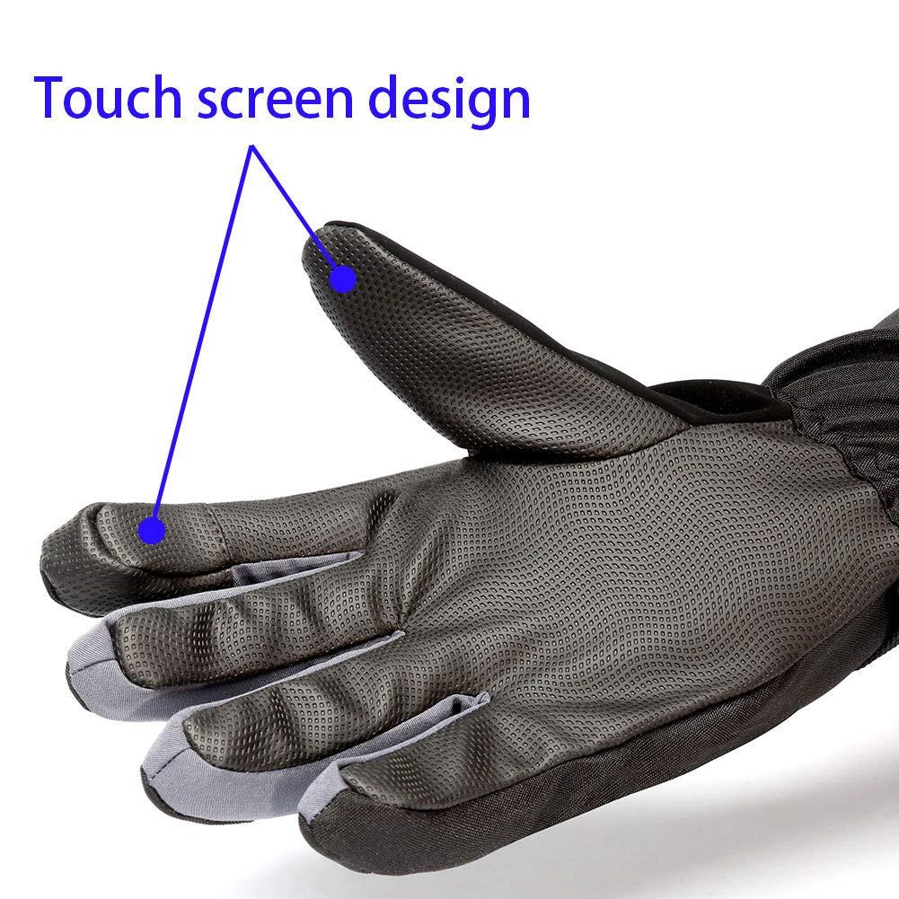 MPHABON Ski Gloves Mens Winter Gloves Waterproof Windproof Outdoor Snowboard Warm Gloves Womens Gloves