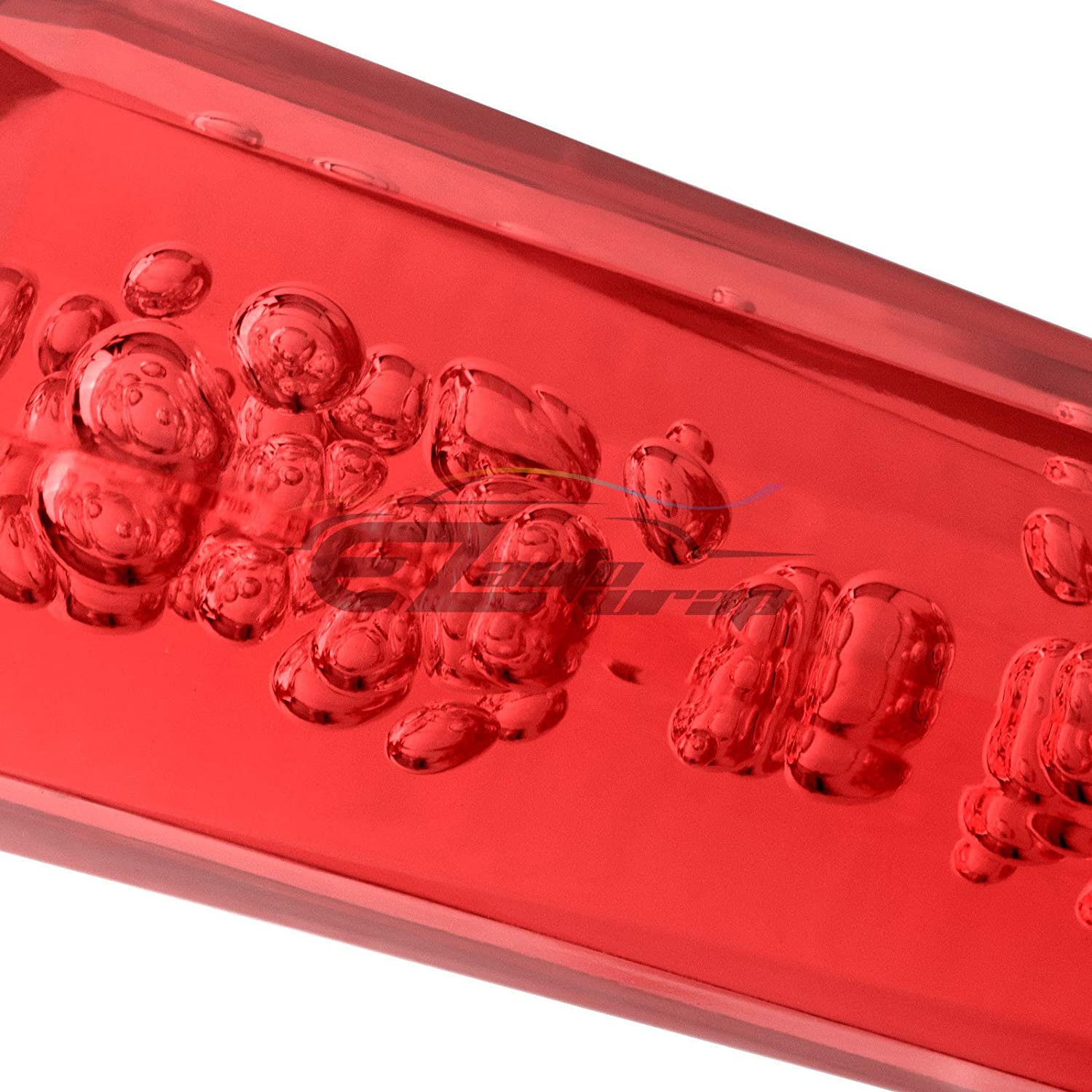 EZAUTOWRAP Red Shift Knob Stick Frosted Matte Crystal Bubble Long Throw Gear Shifter 20cm