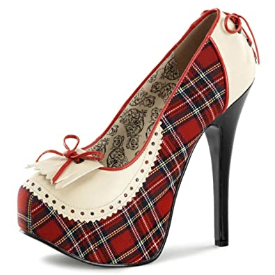 70fba1a2a36 Amazon.com   Summitfashions Cream and Red Plaid Penny Loafer Style ...