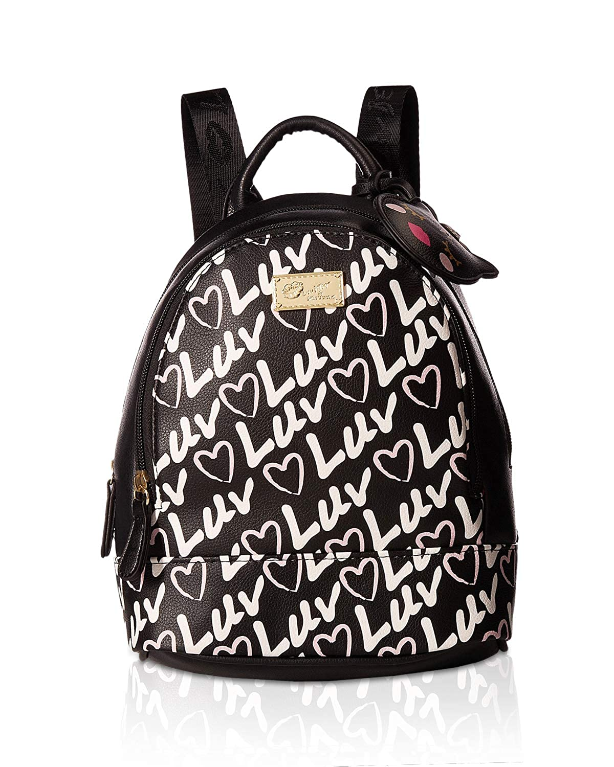 Amazon.com | Luv Betsey Womens Jaz Mid Size PVC Backpack Black/Black One Size | Kids Backpacks