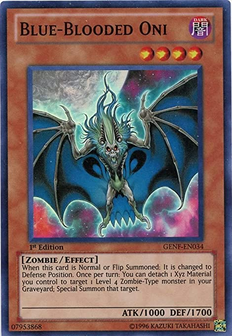 Yu-Gi-Oh! - Blue-Blooded Oni (GENF-EN034) - Generation Force ...