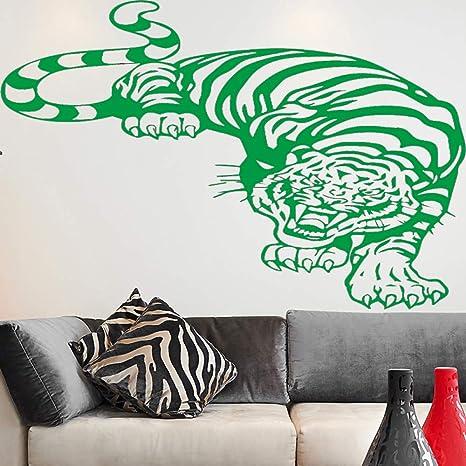 Fierce Tiger Wall Sticker PVC Wall Stickers Wall Art Wall Paper ...