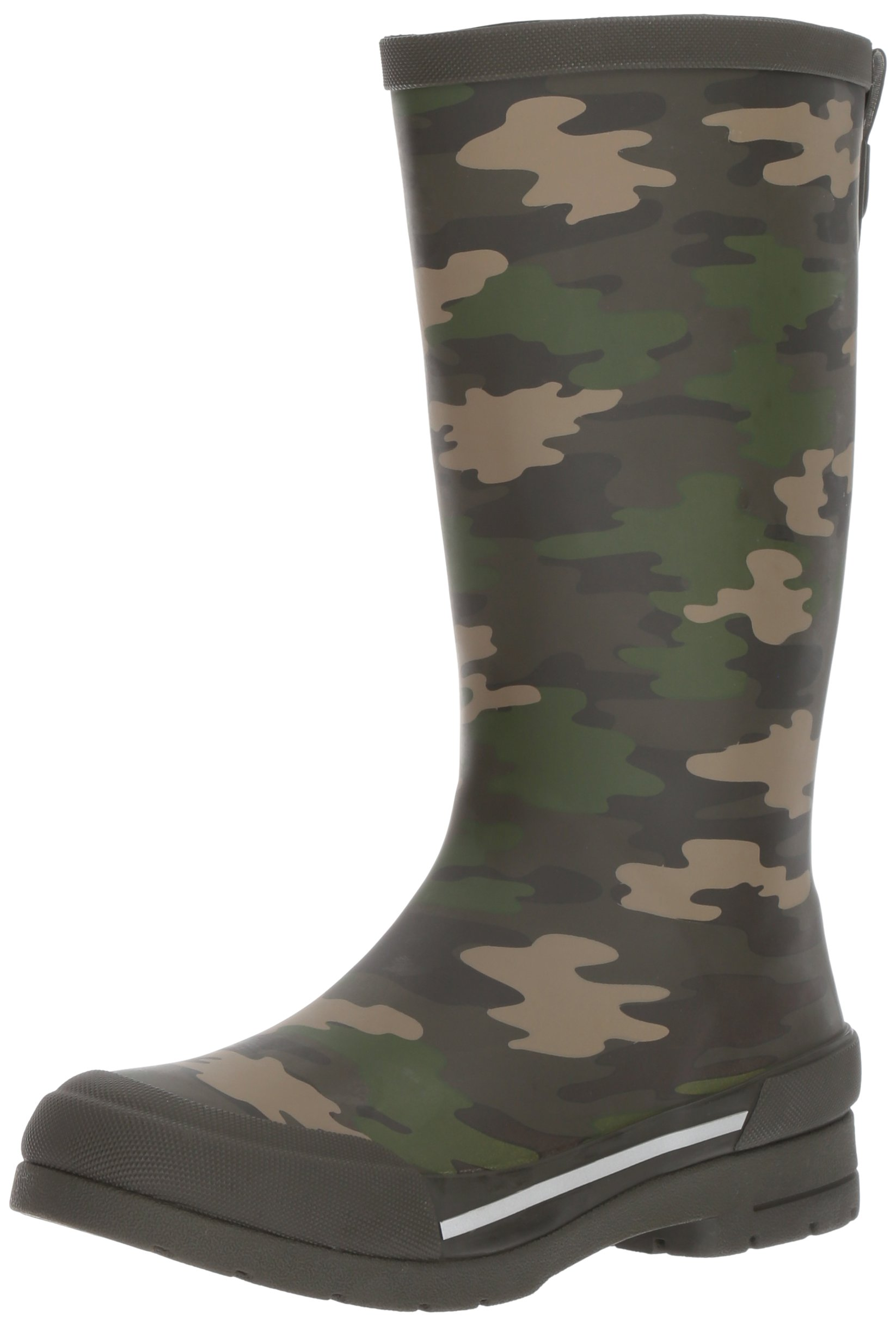 Western Chief Boys Waterproof Classic Youth Size Rain Boots, Camo Green, 2 M US Little Kid