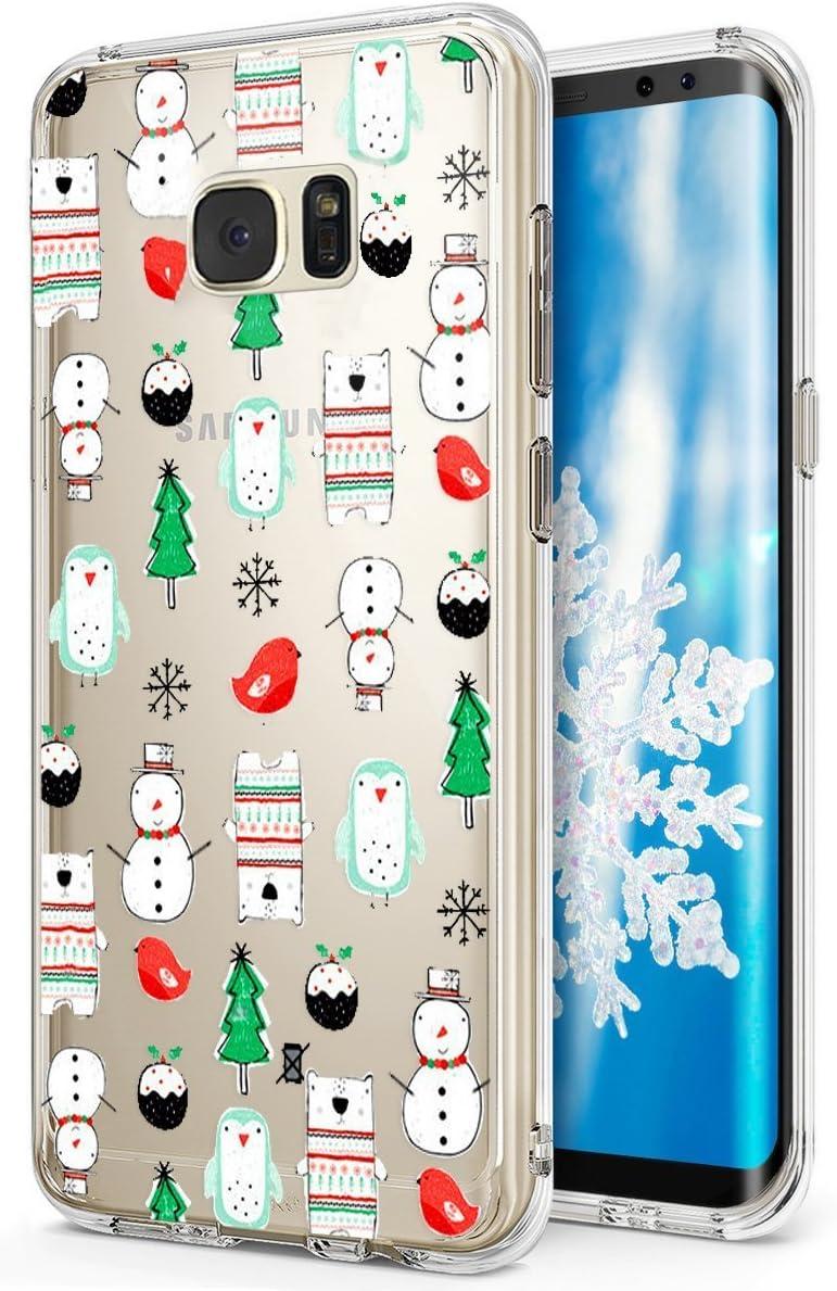 Kompatibel Mit Galaxy S7 Hülle Christmas Snowflake Weihnachten Schneeflocke Hirsch Handyhülle Transparent Silikon Hülle Tasche Case Tpu Bumper Rückseite Durchsichtige Schutzhülle Für Galaxy S7 9 Baumarkt