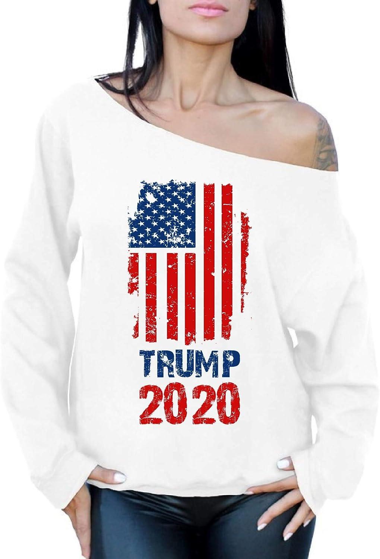 Awkward Styles Trump 2020 Off The Shoulder Sweatshirt Trump Sweater for Women
