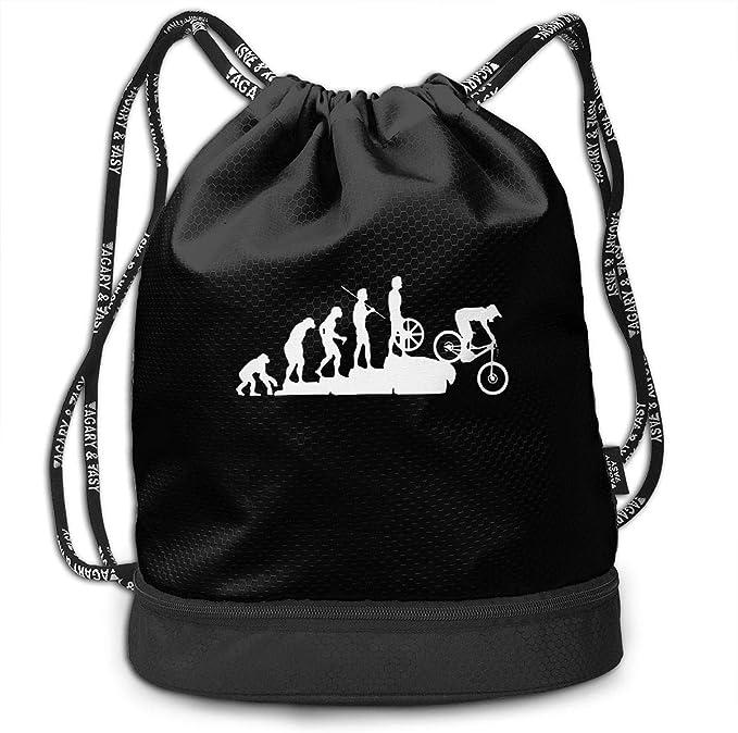 Mochila de Descenso para Bicicleta de montaña para Hombre y para Mujer, 100% poliéster, Mochila Durable: Amazon.es: Equipaje