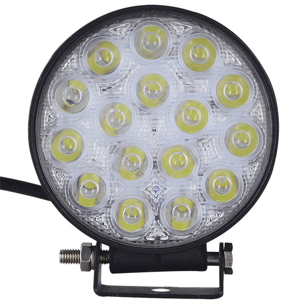 Viugreum Lampada LED Ultra Potente Faretti Fendinebbia Fari da Fuoristrada Auto Piscina IMPERMEABILE IMMERGIBILE IP67 Precisione 9600 LM Rotondi 4
