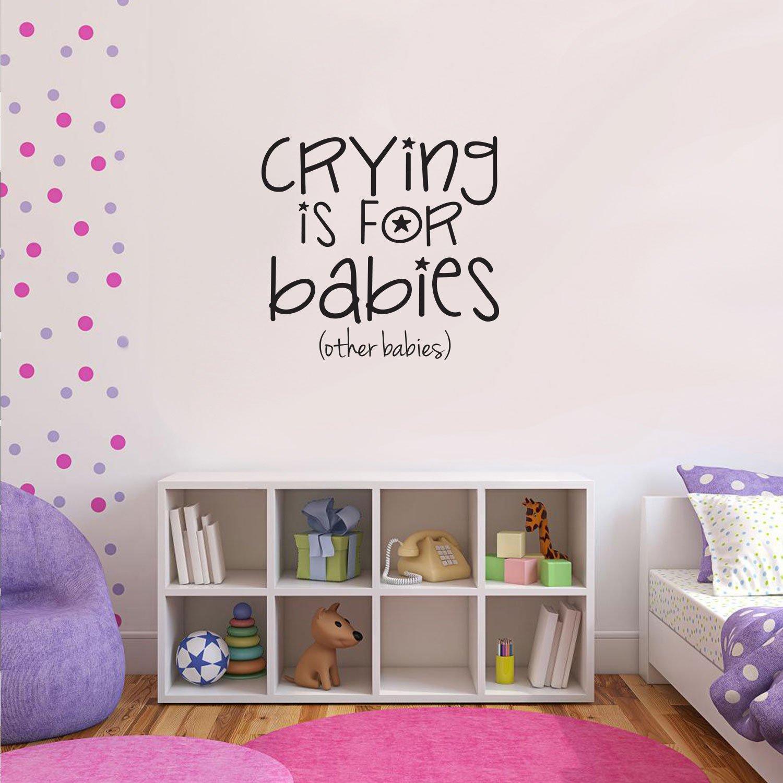 Amazon.com: Boys Girls Nursery Room Vinyl Wall Art Decal - Crying is ...