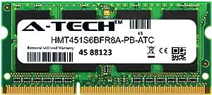 A-Tech 4GB Replacement for Hynix HMT451S6BFR8A-PB - DDR3/DDR3L 1600MHz PC3-12800 Non ECC SO-DIMM 1rx8 1.35v - Single Laptop & Notebook Memory Ram Stick (HMT451S6BFR8A-PB-ATC)