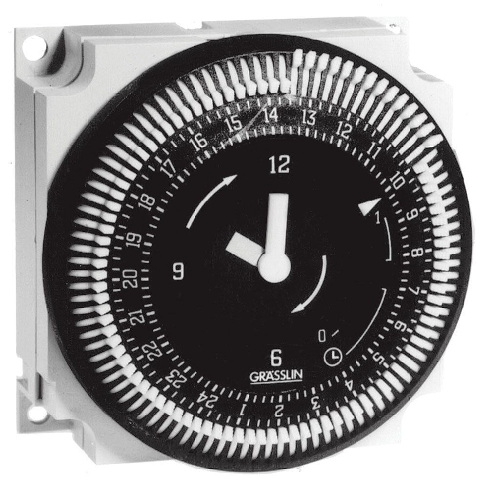 Grasslin by Intermatic FM1QTUZ-24U 24-Hour 21A, SPDT Electromechanical Timer Module with Battery Backup