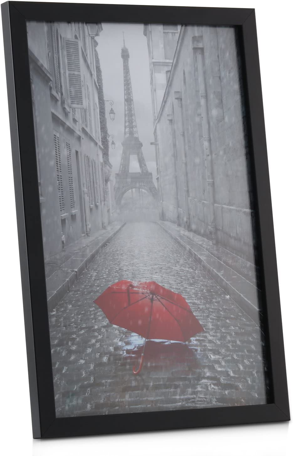 Tempered Glass Black Photo Poster Frame ONE WALL 2PCS 11x17 Picture Frame Wall Mounting Material Included