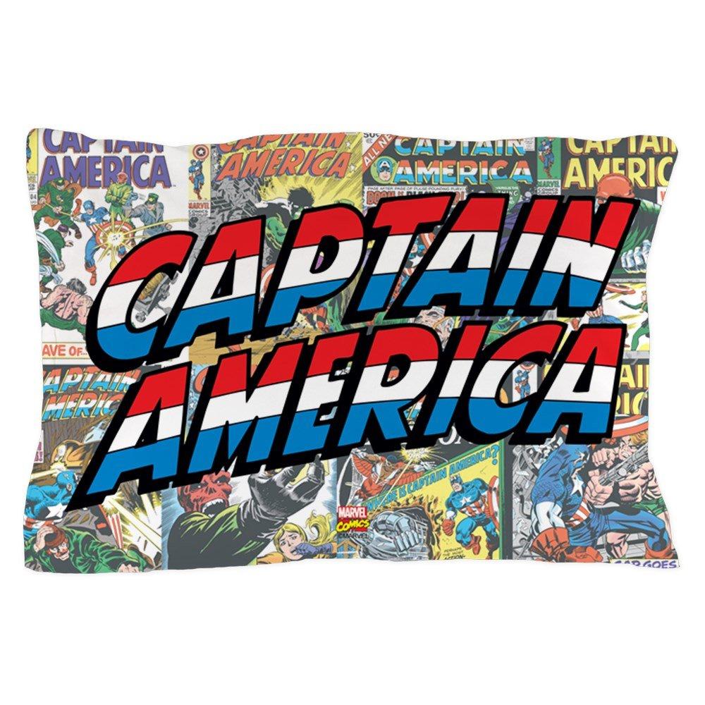 CafePress - Captain America - Standard Size Pillow Case, 20''x30'' Pillow Cover, Unique Pillow Slip by CafePress