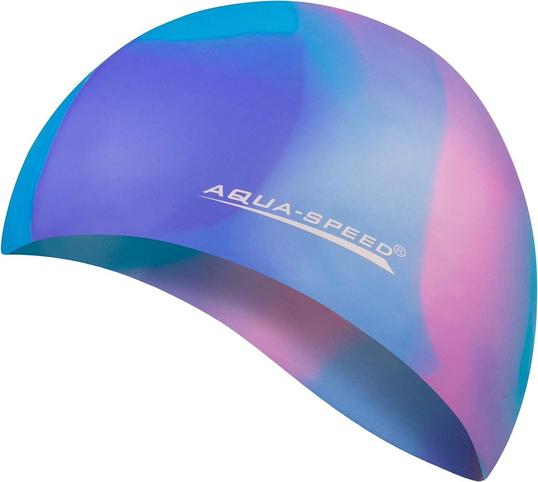 Aqua Speed Gorro de natación Bunt | Silicona | Gorro de natación | Gorro de natación para Adultos | señoras | Hombres | diseños de Gorras | 47 | Colorido | 43.: Amazon.es: Deportes y aire libre