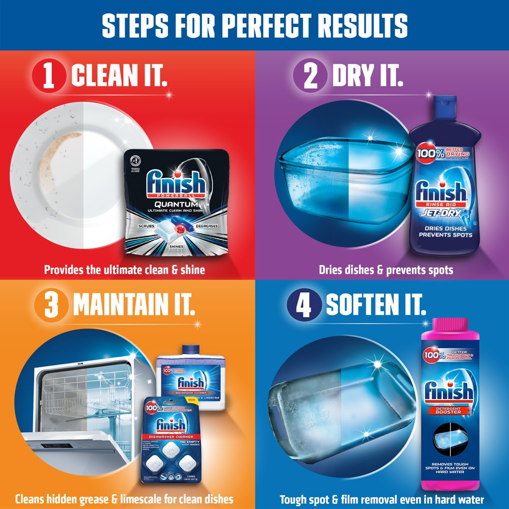 Finish - Quantum - 58ct - Dishwasher Detergent - Powerball - Ultimate Clean & Shine - Dishwashing Tablets - Dish Tabs by Finish (Image #11)