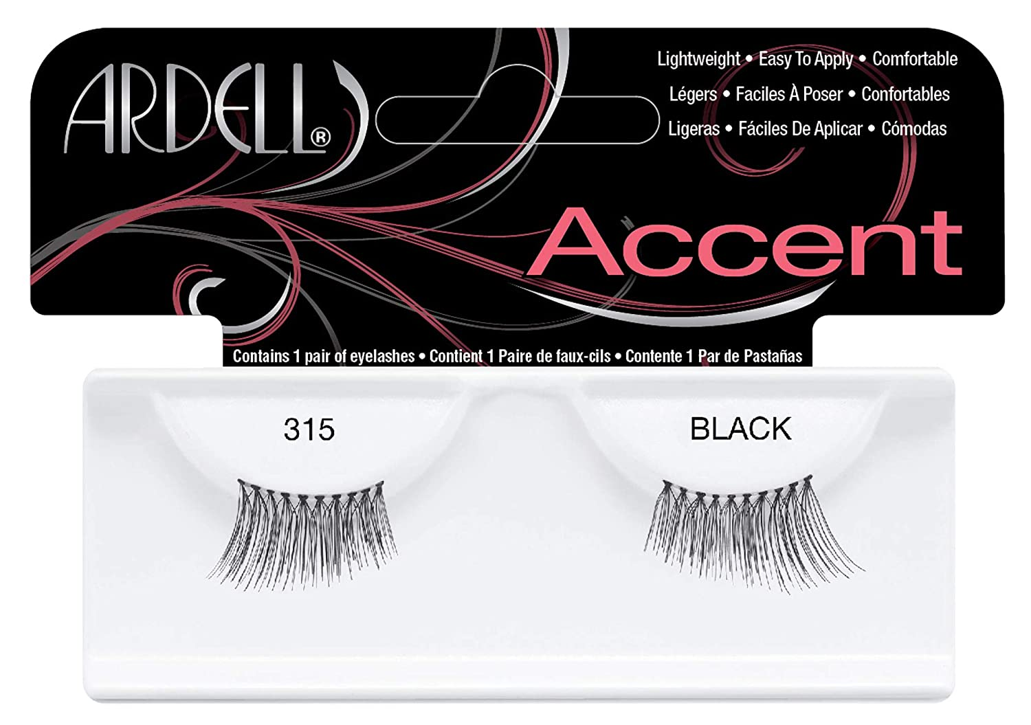 Ardell Accent Style Eye Lashes Number 318, Black, Set of 4 61318
