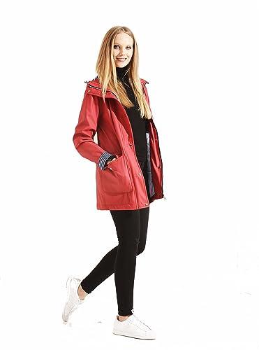 Charcoal Fashion - Abrigo impermeable - Parka - para mujer