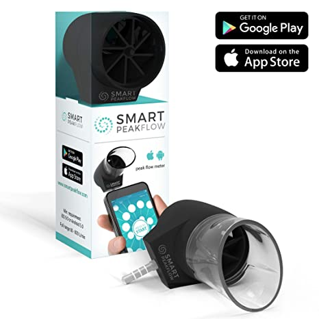 Smart Peak Flow Meter with Asthma Diary App and Washable Mouthpiece - CE  Medical Device, No Batteries Required
