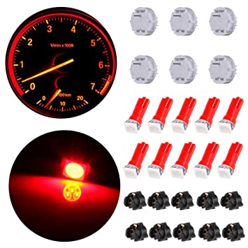 6Pcs x27.168 Stepper Motor Speedometer Cluster Instrument Chevy Gmc 10 Red led