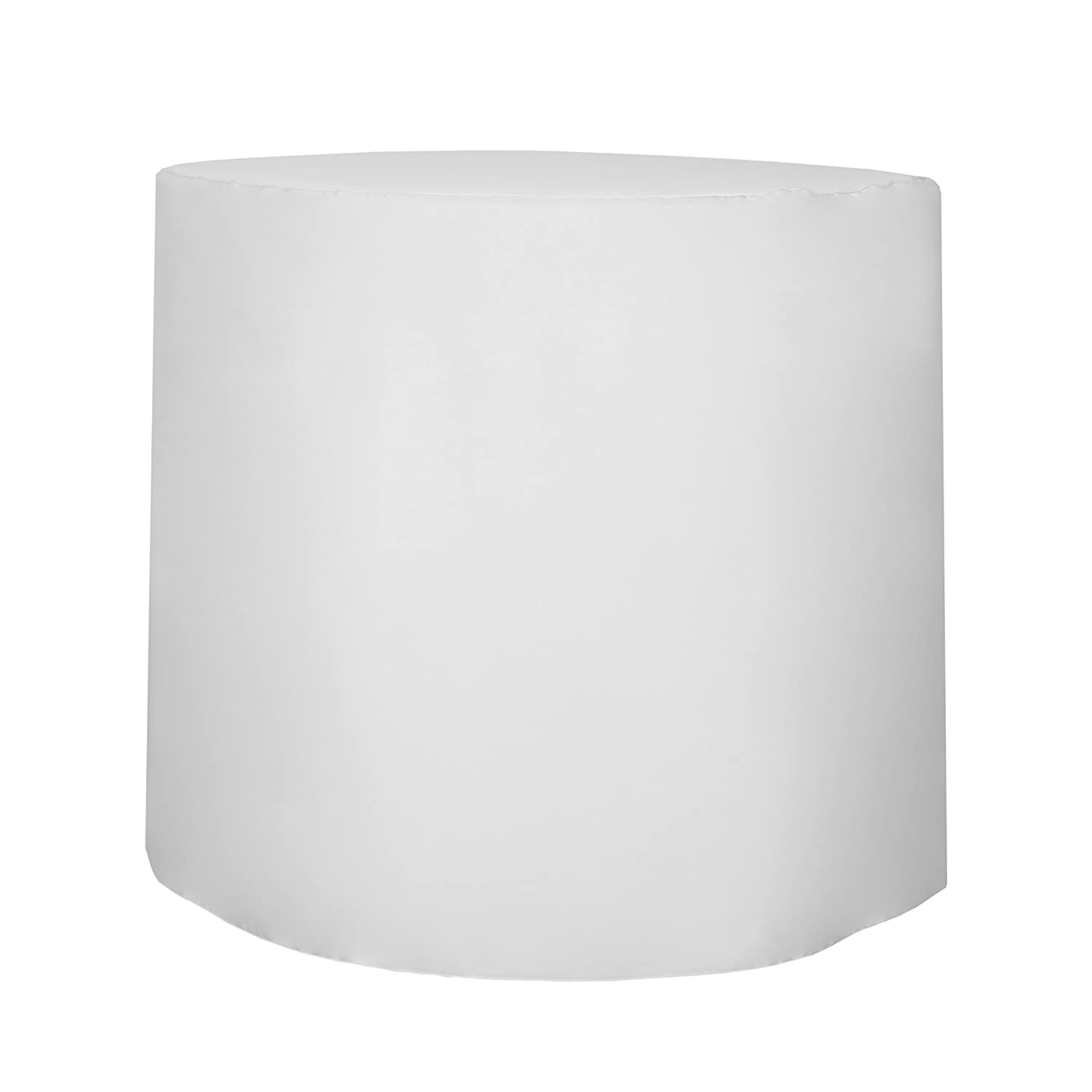 """Ultimate Textile -3 Pack- 30-Inch Round Fitted Polyester Cocktail Table Cover 42"""" H, White"""