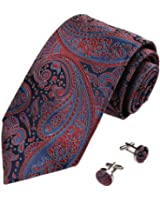 YA-BC-B.02 Multiple Colors Patterned Woven Mens Silk Ties for Best Men Gift By Y&G