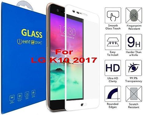 LG K10 2017 - Curvo 3D Cristal Templado Protector de Pantalla, 3D ...