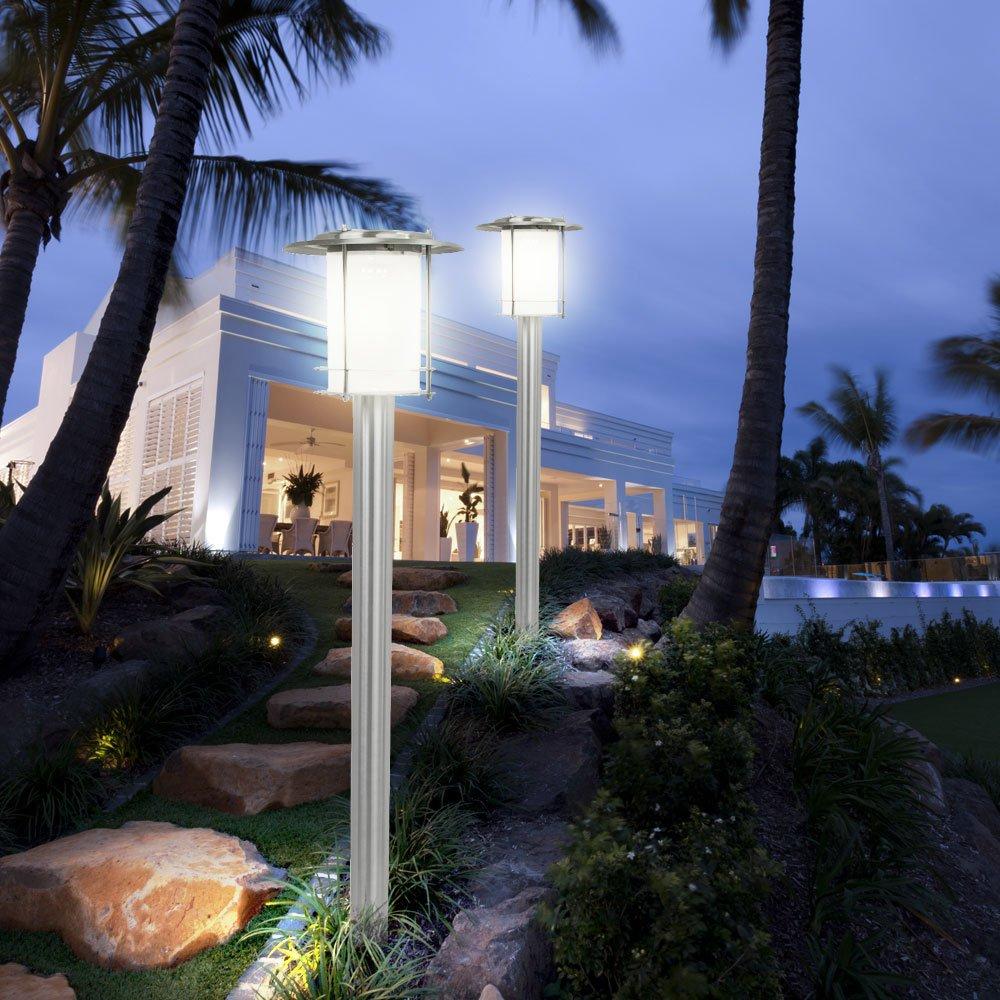 Schön Terrassen Beleuchtung Außen Galerie Von 4er Set Led Außen Steh Leuchten Edelstahl