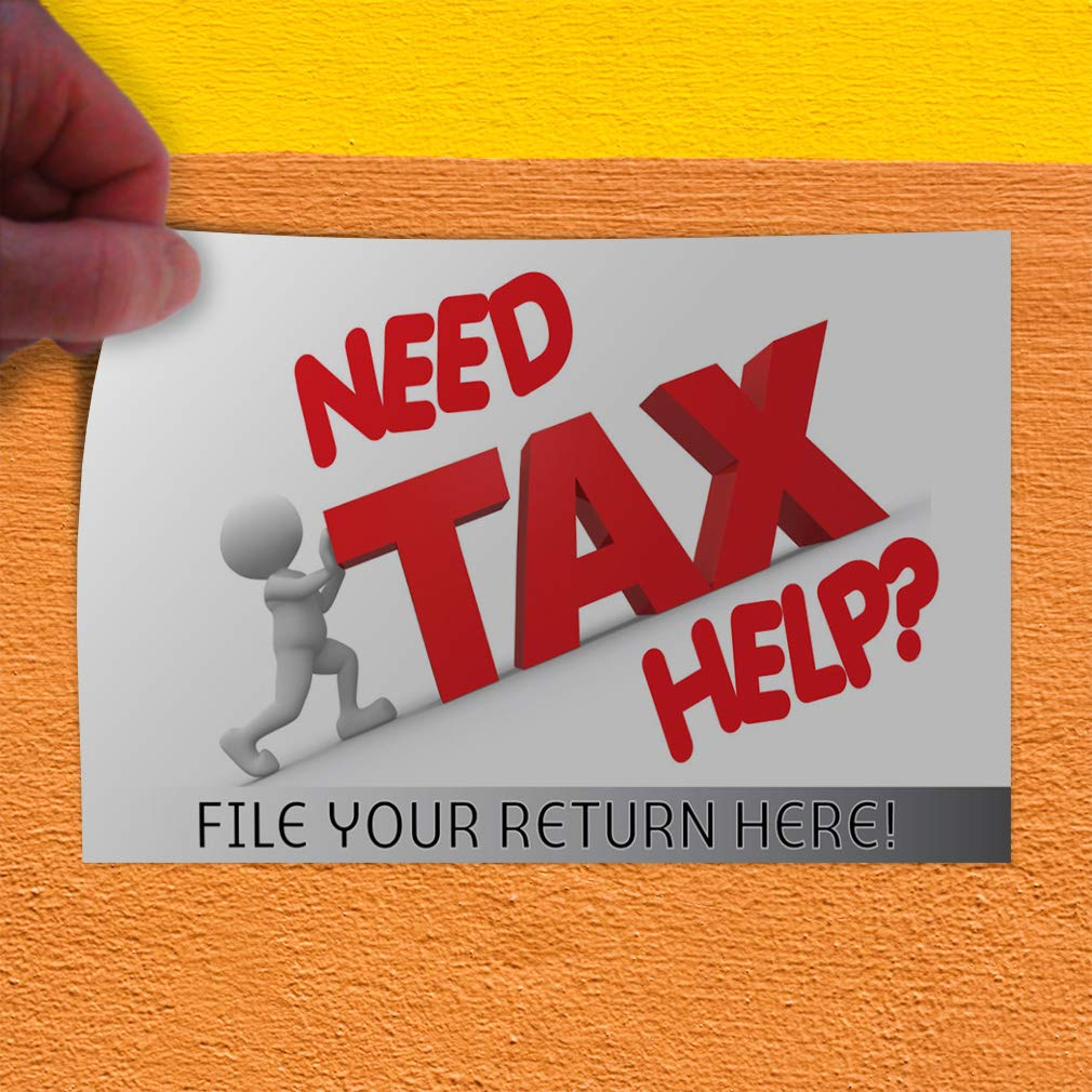 File Your Returns Outdoor Store Sign White File Your Returns Here Style T Business Need Tax Help Decal Sticker Multiple Sizes Need Tax Help