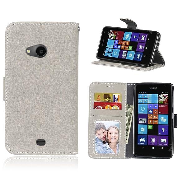 quality design 71a7a 10dae Amazon.com: Nokia Lumia 535 Case, Microsoft Lumia 535 Wallet Case ...