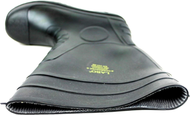 M.d LABO 15.5 Mens Waterproof Winter Snow Rain Rubber Boots Slip-Resistant