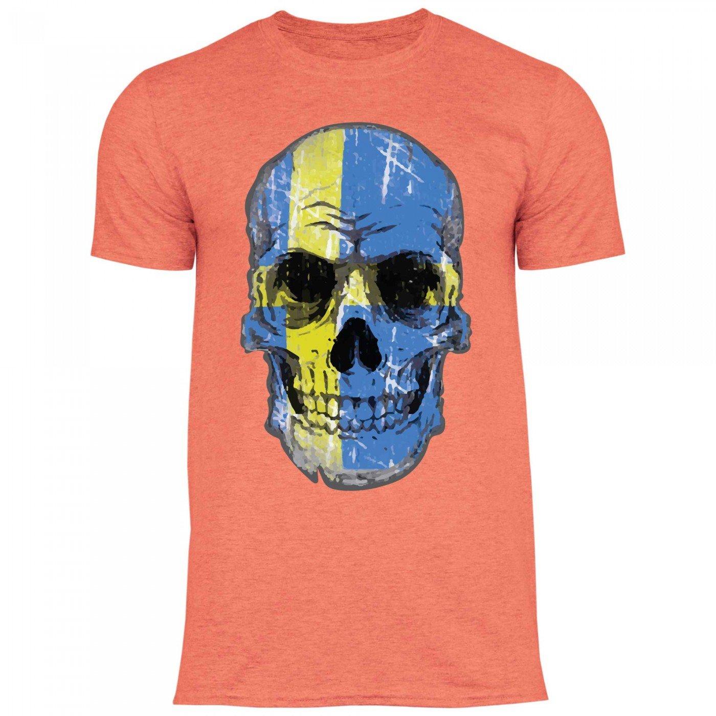 Royal Shirt df24 Damen T-Shirt USA Amerika Stars Stripes Flagge Totenkopf