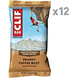 CLIF BAR - Energy Bar - Peanut Toffee Buzz - With Caffeine 2.4 Ounce Protein Bar, 12 Count