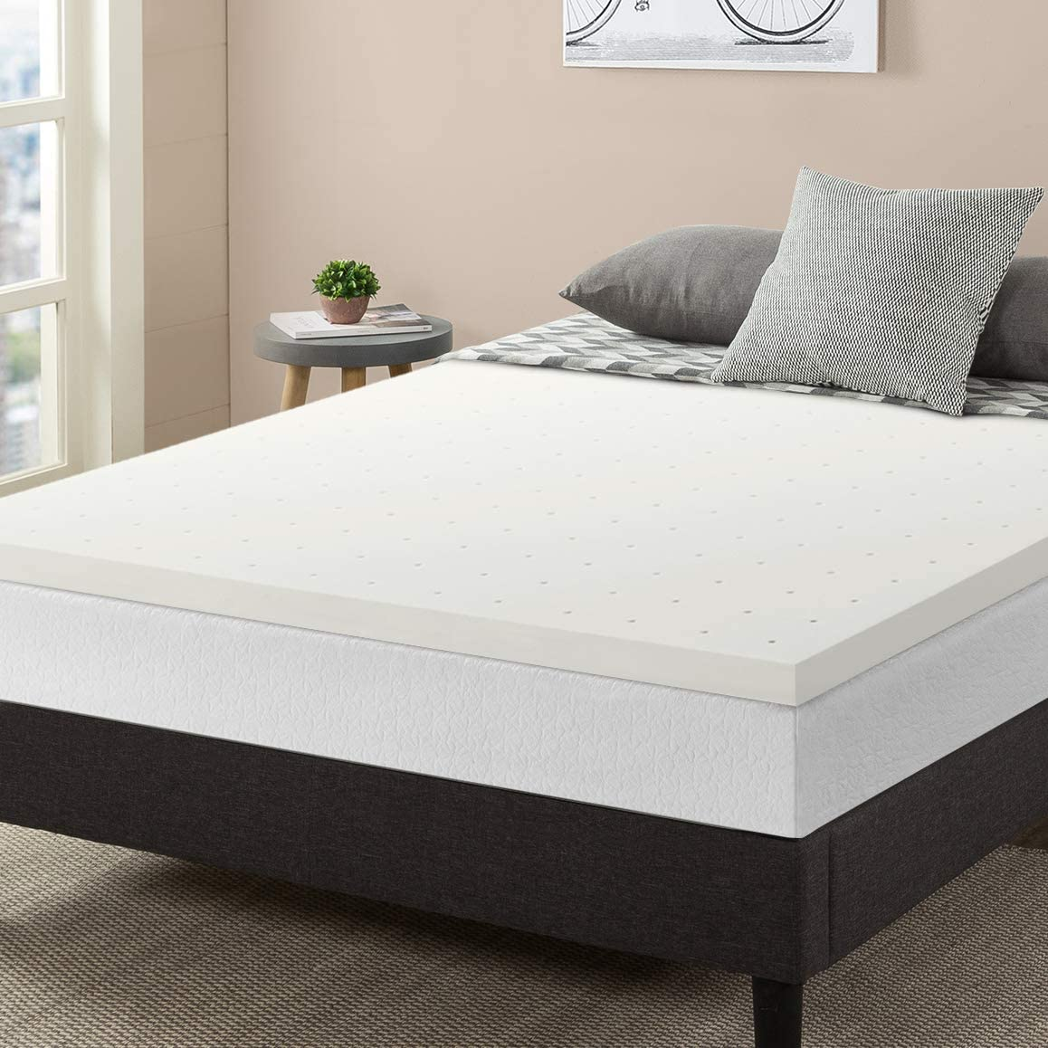 "Best Price Mattress Topper Queen, 2.5"" Memory Foam Mattress Topper with Certipur-US Certified Ventilated Cooling, Queen Size"