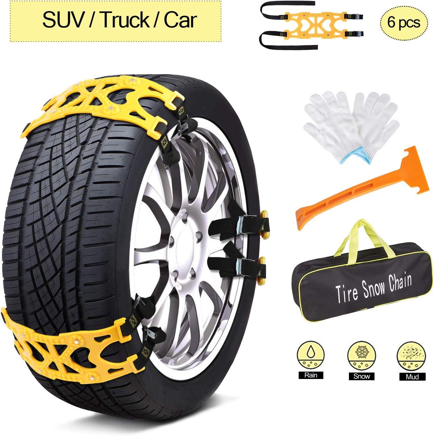 AUTMOR Emergency Anti Slip Snow Best Tire Chains