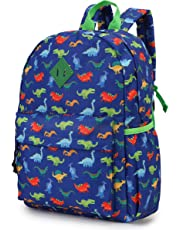Backpack for Boys Kids Backpack Toddler Backpack for Kindergarten Cute Preschool Backpack with Front Chest Buckle, Blue Dinosaurs VONXURY