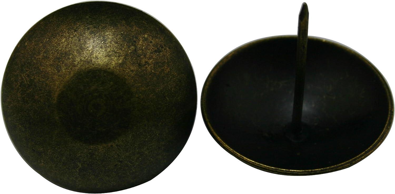 Wuuycoky - Cabezal de clavo redondo, cabeza grande, latón envejecido