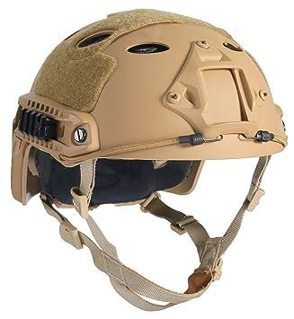 OneTigris PJ moderno casco táctico ligero para airsoft paintball, color caqui, tamaño