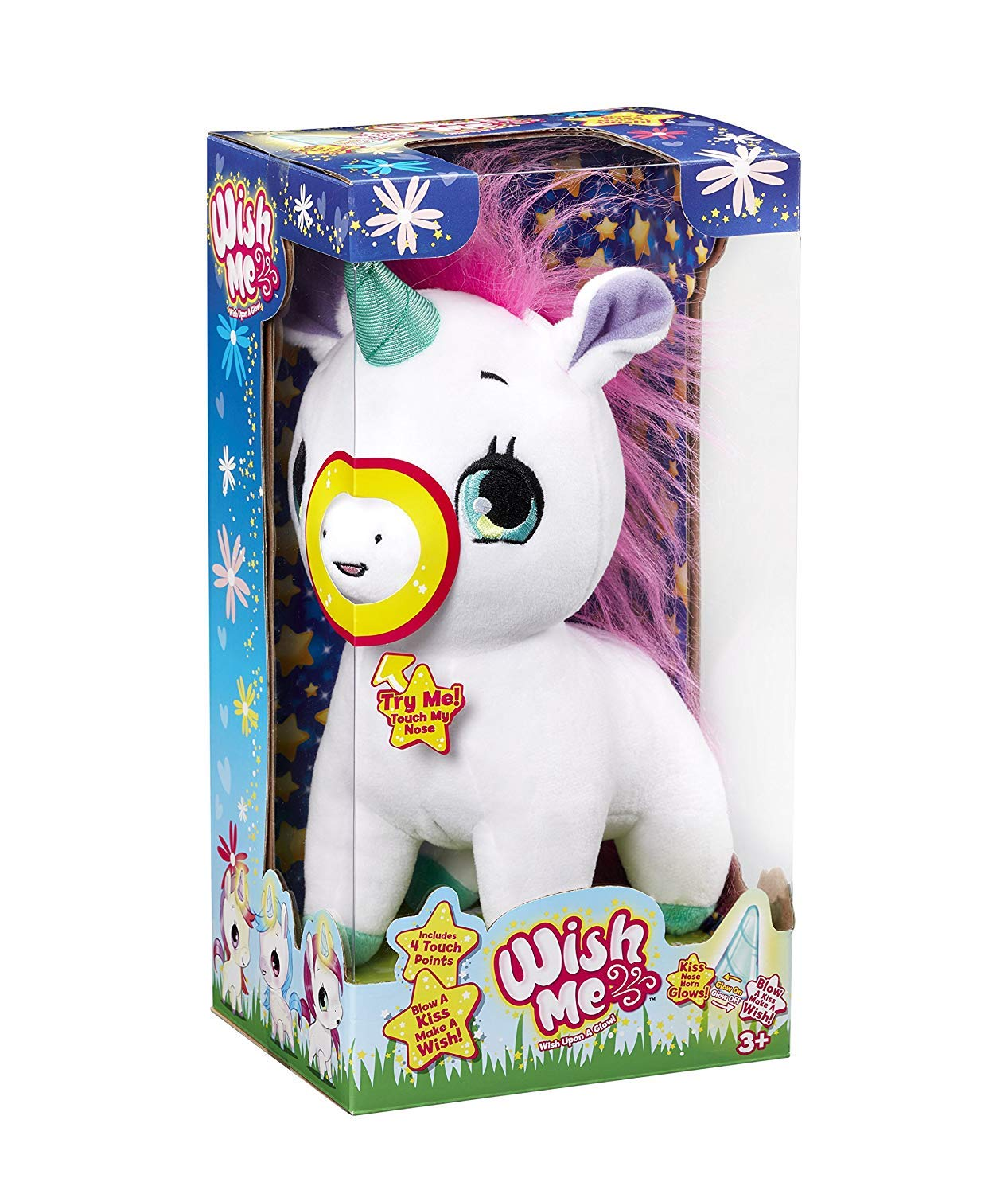 Amazon.com: Wish Me Pets - Pinky The Unicorn with Green Horn: Home & Kitchen