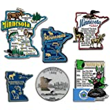 Classic Magnets Six-Piece State Magnet Set - Minnesota