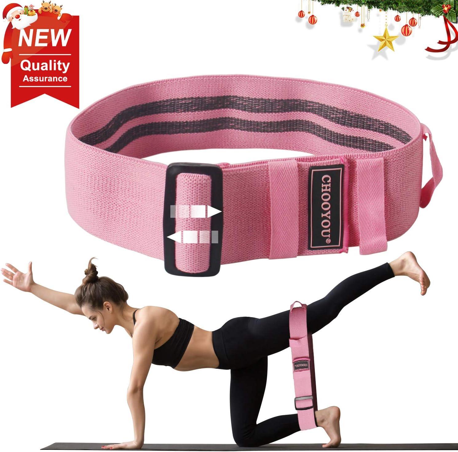 Bandes de Résistance Non Slip Booty Latex Boucle Bandes Exercice Yoga Pilates Jambe Squat