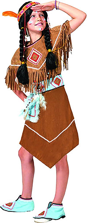 confettery – Indios vestido Disfraz Para Niña, 116 – 158, 6 – 13 ...