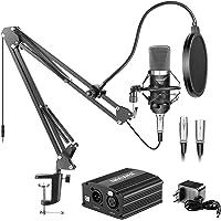 Neewer NW-700 Micrófono de Condensador & Soporte de Brazo de Tijera Brazo Boom con Cable XLR y Abrazadera de Montaje…