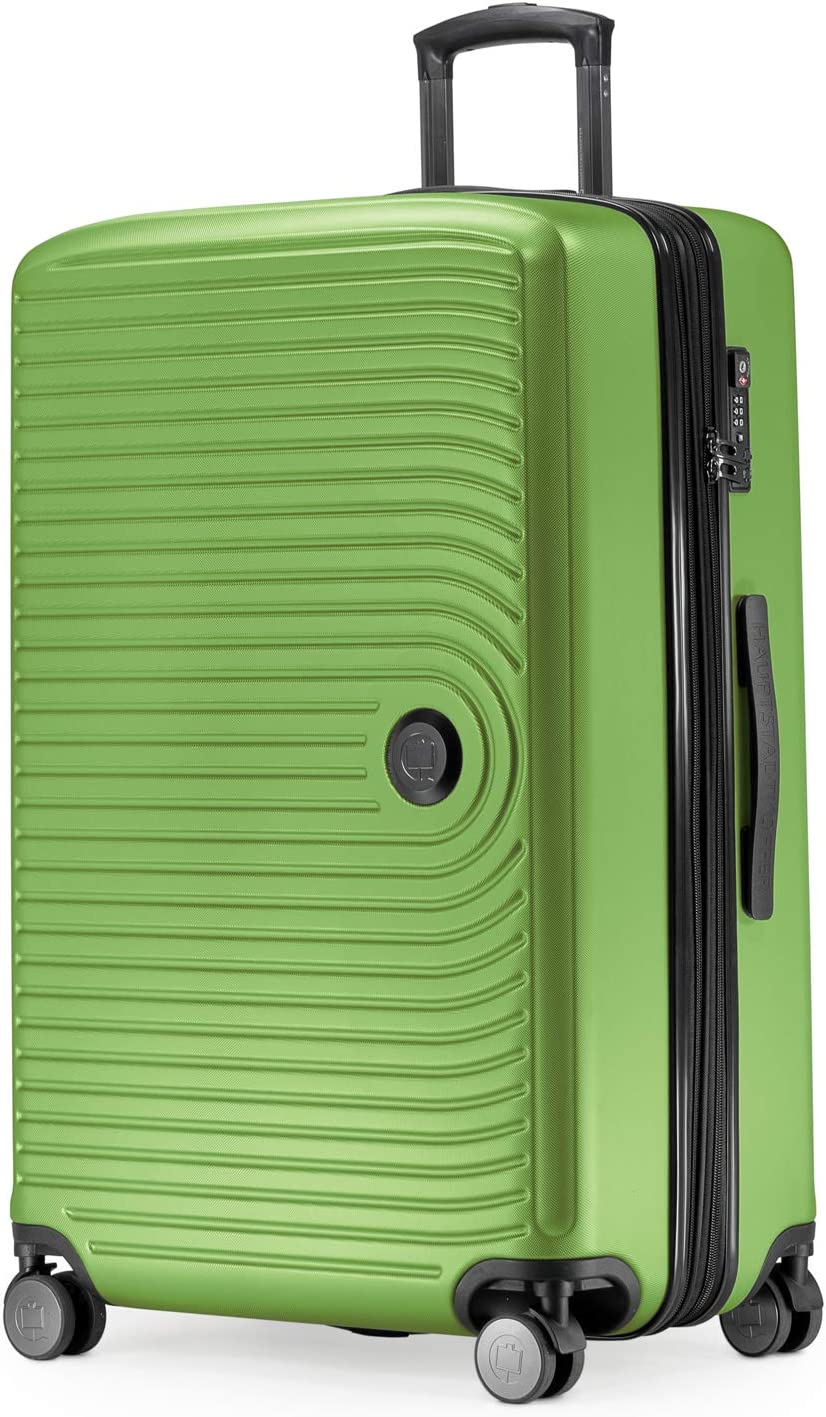 HAUPTSTADTKOFFER - MITTE - Grande Maleta, Extensible, Equipaje rígido con ampliación de Volumen de 8 cm, TSA, 4 Ruedas Dobles engomadas, 77 cm, 130 litres, Verde Manzana