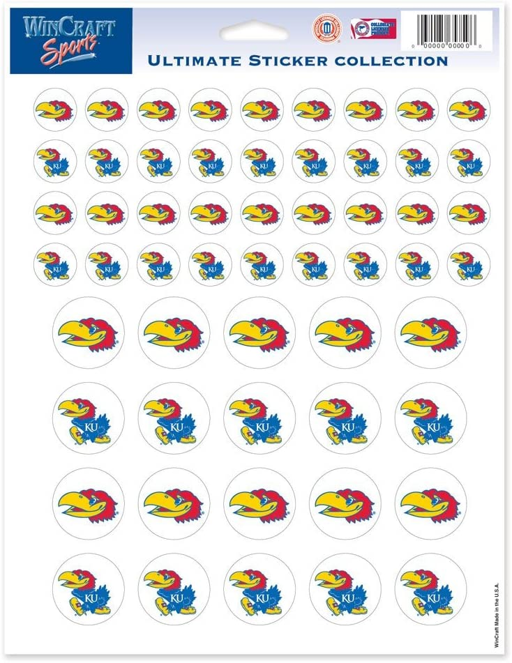 NCAA Color Vinyl Sticker Sheet, 8.5